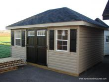 12' x 16' Classic Hip Roof Shed (vinyl siding)
