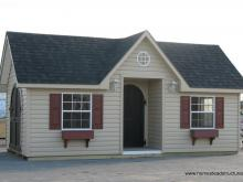 12' x 16' Classic Victorian Shed with inset Door (vinyl siding)