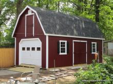 14' x 26' Liberty Dutch Barn Shed (D-Temp Siding)