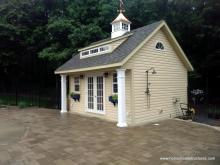 16' x 16' Heritage Century Pool House with vinyl siding