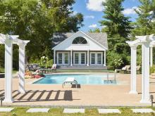 17' x 26' Custom Heritage Liberty Pool House in Long Island