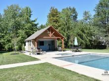 18' x 22' Century Pool House with Timber Frame Pavilion - Gwynedd Valley PA