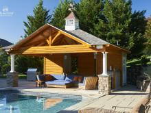 18' x 22' Timber Frame Avalon Pool House in Wayne PA