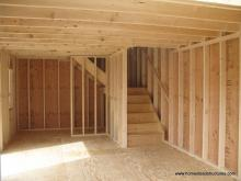 2 Story Shed Interior - Liberty A-Frame