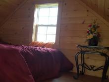 Bedroom loft in tiny house