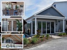 20' x 24' Custom A-Frame Avalon Pool House with Origin Bi-Fold Doors