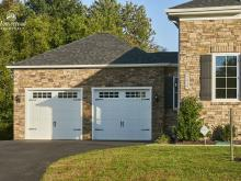 22' x 24' Classic 2-Car Attached Garage with Stone Veneer in Clarkesville