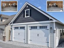 24' x 24' Classic 2-Car Attic Garage in New Holland PA