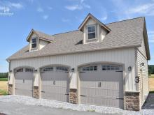 24' x 36' 3-Car Classic 2-Story Garage in Lancaster County