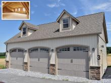 24' x 36' Classic 3-Car 2-Story Garage