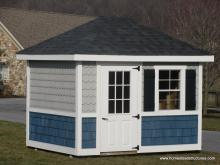 8' x 10 Classic Hip Roof Shed with special siding