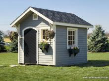 8x10 Classic Garden Shed with window flower boxes