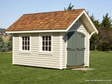8' x 12' Premier Garden Shed with vinyl clapboard siding