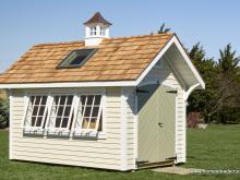 8 x 12 Premier Garden Shed with cupola, skylight & 3 tiltout windows