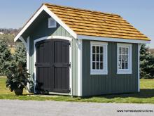 8 x 12 Premier Garden shed in green with interior loft