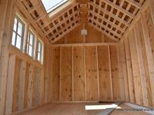 Interior of an 8x12 Premier Garden Shed with skylight