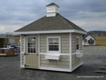 8' x 12' Classic Hip Roof Shed (shakes & scallops siding)