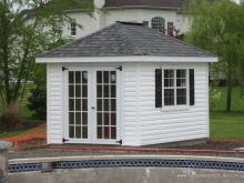 Classic Hip Roof Shed 8' x 12' (vinyl siding)