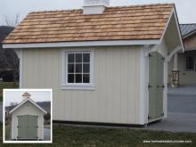 8 x 12 a frame garden series shed with cupola