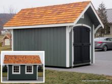 8 x 12 garden shed a frame black door