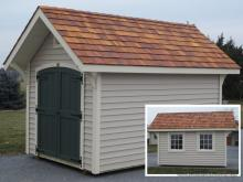 8' x 12' a frame garden shed with vinyl siding