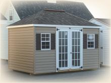 8' x 12' Keystone Hip Shed (Vinyl Siding)