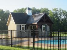 14' x 24' Custom A Frame Pool House (D-temp Siding) w/ 10' x 12' Timberframe Pavilion