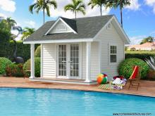 12' x 12' Heritage Classic A Frame Pool House (vinyl siding)