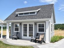 17' x 18' Heritage Liberty Pool House with 15-lite transom dormer