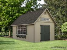 12' x 20' Liberty A Frame Shed (D-temp Siding)