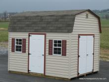 10' x 14' Keystone Dutch Barn Shed (vinyl siding)