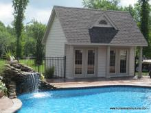 15' x 18' Heritage Pool House (vinyl shake siding)