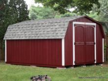10' x 14' Keystone Mini Barn Shed (D-Temp Siding)
