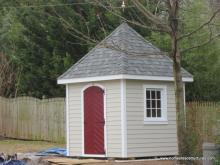 8' x 8' Classic Hip Garden Shed w/ custom roof (Hardie Plank Siding)