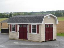 10' x 18' Classic Dutch Barn Shed (vinyl siding)
