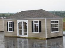 12' x 22' Laurel Hip Shed w/ Crown Molding Facia (Vinyl Siding)