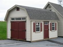 12' x 16' Classic Dutch Barn Shed (vinyl siding)