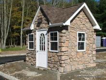 8' x 12' Classic Victorian Shed (Stone Veneer)