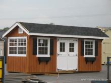6' x 20' Classic Quaker Shed (D-temp Siding)