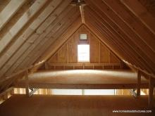 2 Story Shed - 2nd Floor Interior - Liberty A-Frame