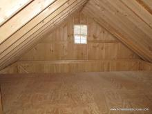 Interior of 2 story 16' x 20' Century A-Frame Shed