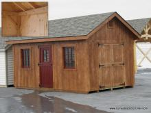 10' x 16' Classic A Frame-Timberframe Shed (Pine T & G Siding)