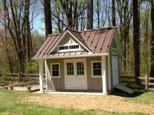 13' x 16' Heritage Pool House (Hardie Board & Batten Siding)