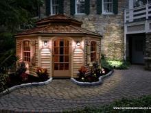 12' Pentacle Garden Shed (cypress clapboard siding)