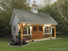 12' x 20' Heritage Pool House w/ Timber Frame Porch (vinyl siding)