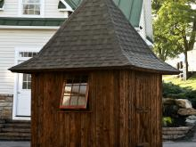Zenith Garden Tower with mushroom board siding