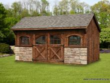 10' x 16' Carriage House Shed (Mushroom Board Siding)