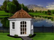 8' Homestead Garden Belle (German Pine Siding)