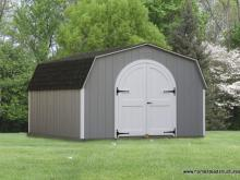 12' x 16' Keystone Mini Barn Shed (D-Temp siding)