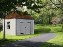 10' x 10' Laurel Hip Garden Shed (german pine siding)